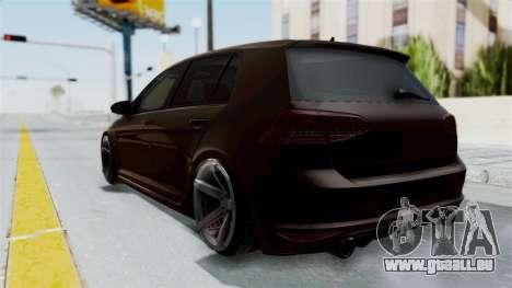Volkswagen Golf 7 Stance für GTA San Andreas zurück linke Ansicht