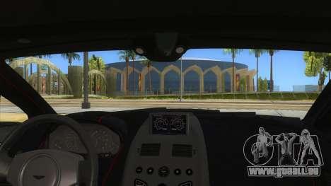 2015 Aston Martin Vantage GT12 für GTA San Andreas Innenansicht