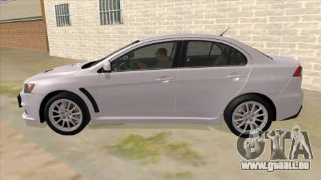 Mitsubishi Lancer Evolution X Tunable für GTA San Andreas linke Ansicht