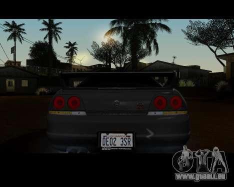Nissan R33 GT-R Tunable pour GTA San Andreas vue de droite