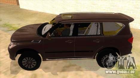 Nissan Patrol 2016 pour GTA San Andreas laissé vue