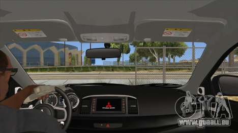 Mitsubishi Lancer Evolution X Tunable pour GTA San Andreas vue intérieure