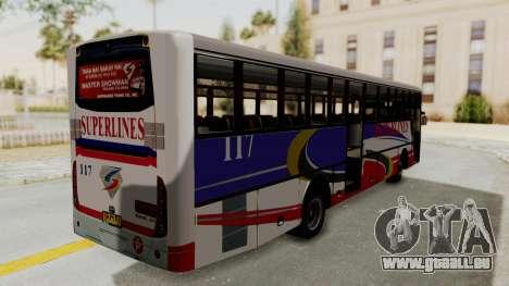 Superlines Ordinary Bus für GTA San Andreas rechten Ansicht