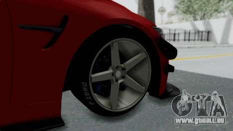 BMW M4 F82 Race Tune für GTA San Andreas zurück linke Ansicht