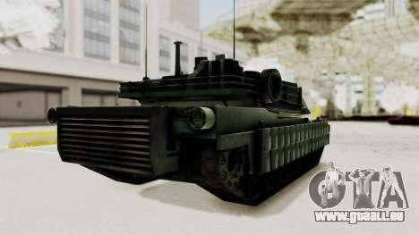M1A2 Abrams Woodland Croatian für GTA San Andreas rechten Ansicht