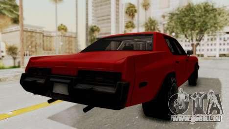 Dodge Monaco 1974 Drag pour GTA San Andreas laissé vue