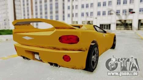 GTA 3 Infernus pour GTA San Andreas laissé vue