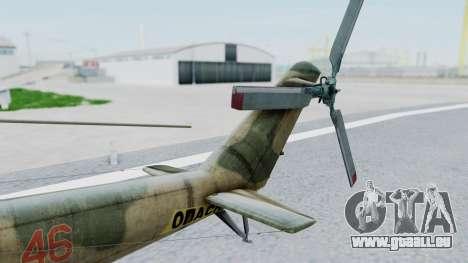 Mi-24V Russian Air Force 46 pour GTA San Andreas sur la vue arrière gauche