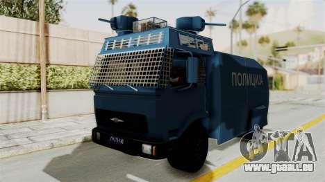 FAP Water Cannon pour GTA San Andreas sur la vue arrière gauche