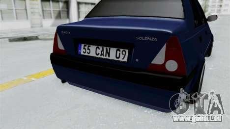 Dacia Solenza für GTA San Andreas Rückansicht