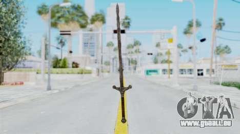 Skyrim Iron Claymore pour GTA San Andreas deuxième écran