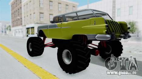 Pontiac Safari 1956 Monster Truck für GTA San Andreas zurück linke Ansicht