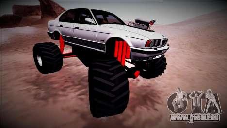 BMW M5 E34 Monster Truck für GTA San Andreas Seitenansicht