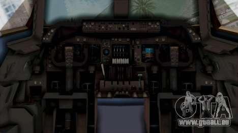 Boeing 747-200 American Airlines für GTA San Andreas Rückansicht