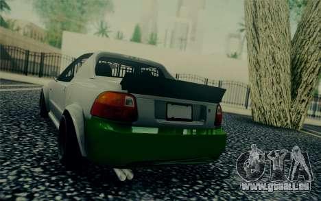 Honda Stance pour GTA San Andreas sur la vue arrière gauche