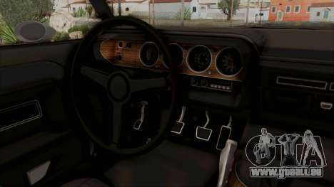 Dodge Challenger 1970 Monster Truck für GTA San Andreas Innenansicht