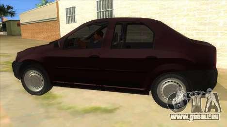 Dacia Logan V2 Final pour GTA San Andreas laissé vue