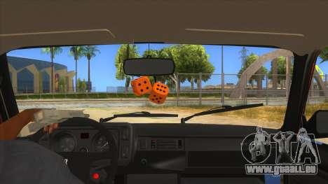 VAZ 2107 Rusty Gringo pour GTA San Andreas vue intérieure