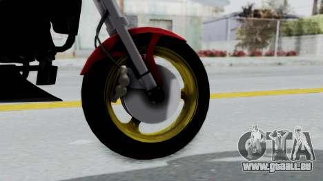 Ducati Monster pour GTA San Andreas sur la vue arrière gauche
