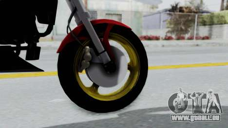 Ducati Monster für GTA San Andreas zurück linke Ansicht