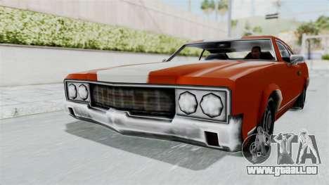 GTA Vice City - Sabre Turbo (Unsprayable) pour GTA San Andreas sur la vue arrière gauche