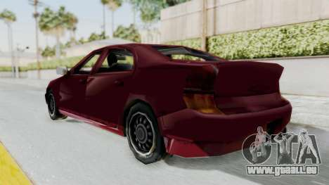 GTA 3 Kuruma pour GTA San Andreas sur la vue arrière gauche