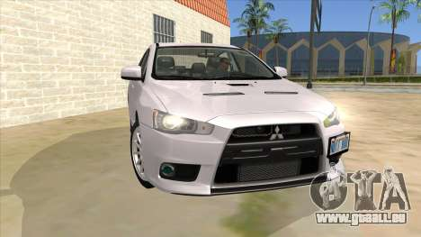 Mitsubishi Lancer Evolution X Tunable für GTA San Andreas Rückansicht