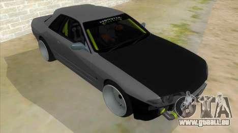Nissan Skyline R32 Drift Monster Energy für GTA San Andreas Rückansicht
