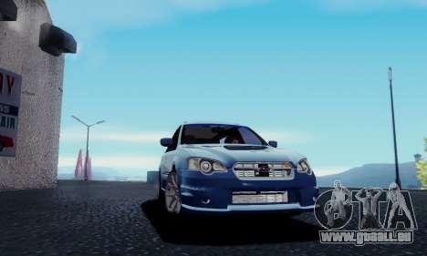 Subaru Legacy STi Wagon 2008 pour GTA San Andreas sur la vue arrière gauche