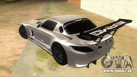 Mercedes Benz SLS AMG GT3 pour GTA San Andreas sur la vue arrière gauche