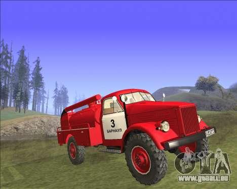 GAZ 63 moteur de Feu pour GTA San Andreas sur la vue arrière gauche