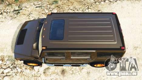 GTA 5 Hummer H2 2005 [getönt] v2.0 Rückansicht