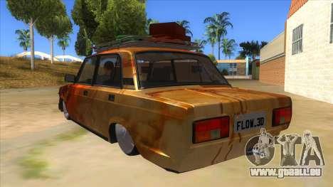 VAZ 2107 Rusty Gringo pour GTA San Andreas sur la vue arrière gauche