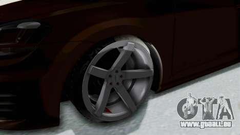 Volkswagen Golf 7 Stance für GTA San Andreas Rückansicht