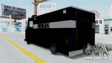 CCPD Boxville from Manhunt pour GTA San Andreas laissé vue