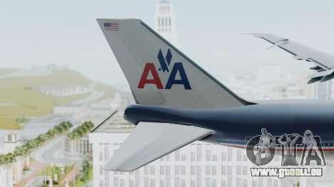Boeing 747-200 American Airlines für GTA San Andreas zurück linke Ansicht