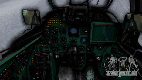 Mi-24V Ukraine Air Force 010 für GTA San Andreas Rückansicht