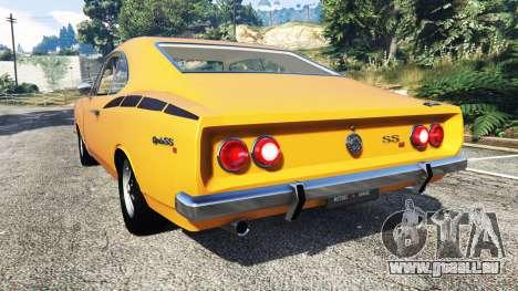 GTA 5 Chevrolet Opala SS4 1975 arrière vue latérale gauche