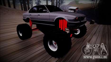 BMW M5 E34 Monster Truck für GTA San Andreas Innenansicht