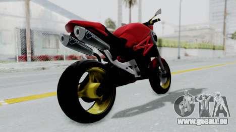 Ducati Monster pour GTA San Andreas laissé vue