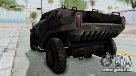 PITBULL from CoD Advanced Warfare pour GTA San Andreas vue de droite