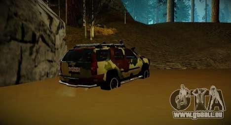 Chevrolet Tahoe LTZ v2 Camofluge pour GTA San Andreas laissé vue