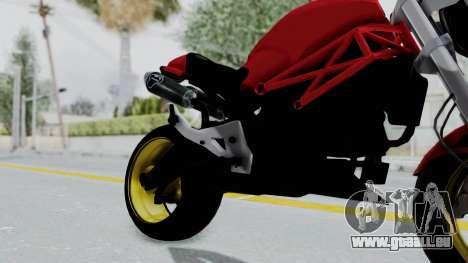 Ducati Monster pour GTA San Andreas vue de droite