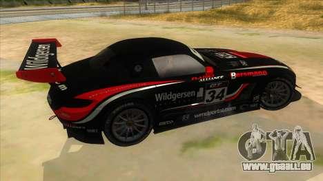 Mercedes Benz SLS AMG GT3 pour GTA San Andreas vue de dessus