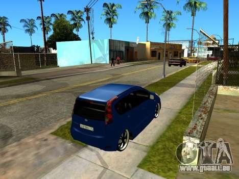 Nissan Note KURMIN StreetRacer pour GTA San Andreas vue intérieure