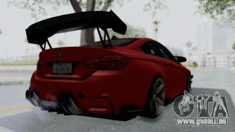 BMW M4 F82 Race Tune für GTA San Andreas linke Ansicht