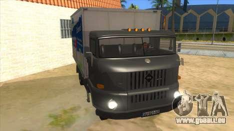 IFA W50 für GTA San Andreas Rückansicht