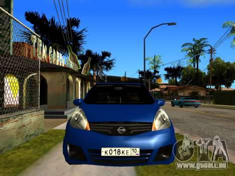 Nissan Note KURMIN StreetRacer pour GTA San Andreas vue de droite