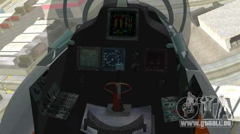 SU-30 MKI pour GTA San Andreas vue de droite