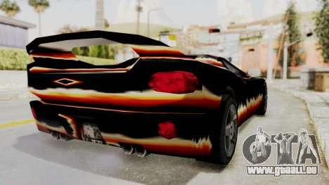 GTA 3 Diablos Infernus für GTA San Andreas zurück linke Ansicht
